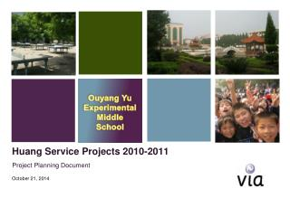 Huang Service Projects 2010-2011