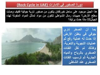 دورة الصخور  في الامارات ( Rock Cycle in UAE )