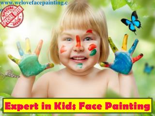 Expert in Kids Face Painting