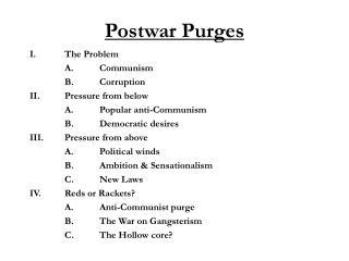 Postwar Purges