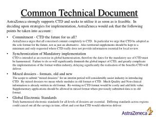 Common Technical Document