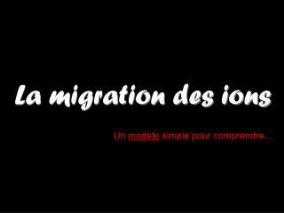 La migration des ions