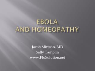 Ebola and homeopathy