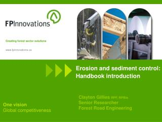 Erosion and sediment control: Handbook introduction