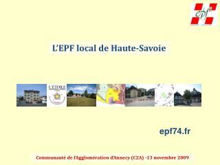 L'EPF local de Haute-Savoie