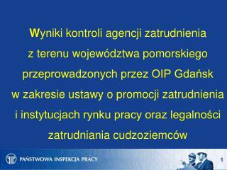 Kontrole agencji zatrudnienia prowadzone w 2013 r.