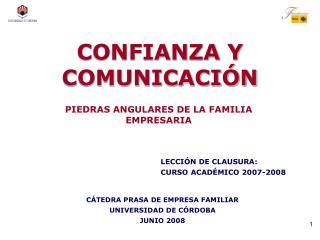 CONFIANZA Y COMUNICACIÓN