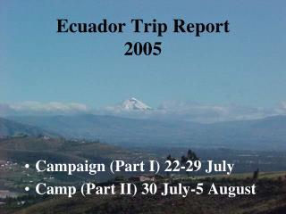 Ecuador Trip Report 2005