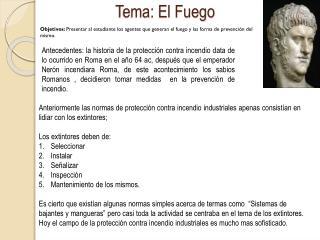 Tema: El Fuego