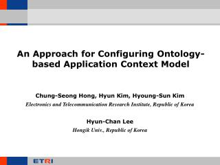 An Approach for Configuring Ontology-based Application Context Model