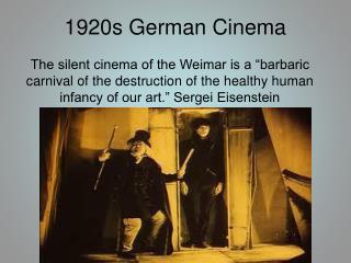 1920s German Cinema