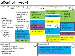 uControl – week5