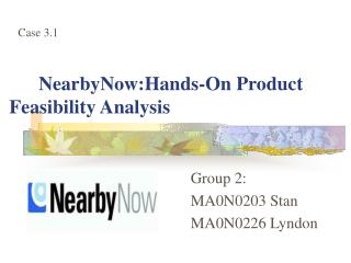 NearbyNow:Hands-On Product Feasibility Analysis