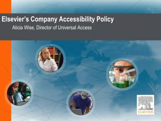 Elsevier's Company Accessibility Policy