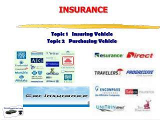 Topic 1   Insuring Vehicle Topic 2   Purchasing Vehicle