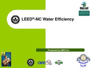 LEED -NC Water Efficiency