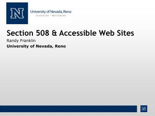 Section 508 & Accessible Web Sites