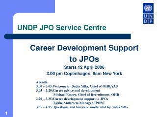 UNDP JPO Service Centre