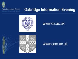 Oxbridge Information Evening