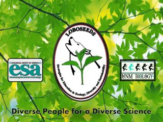 Diverse People for a Diverse Science