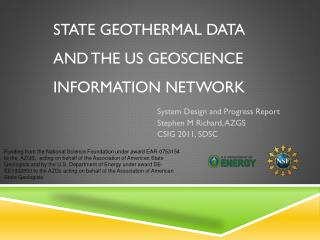 State Geothermal Data  and  the US Geoscience Information Network