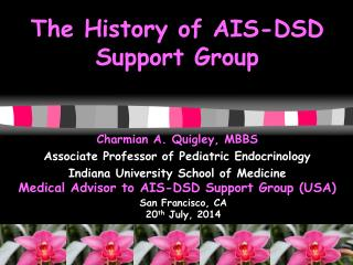 The History of AIS-DSD  Support  Group