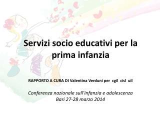 Servizi socio educativi per la prima infanzia