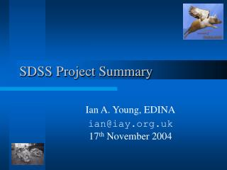 SDSS Project Summary