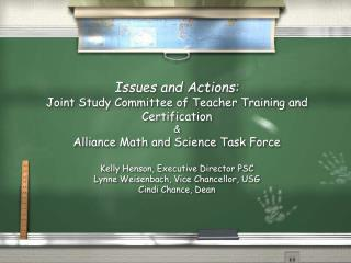 Alliance Math/Science Task Force