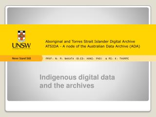 Aboriginal and Torres Strait Islander Digital Archive