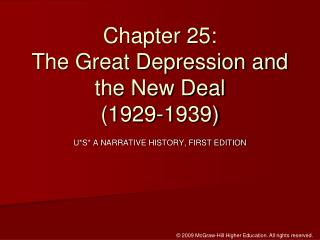 Chapter 25:  The Great Depression and the New Deal (1929-1939)