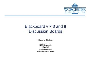 Blackboard v 7.3 and 8 Discussion Boards