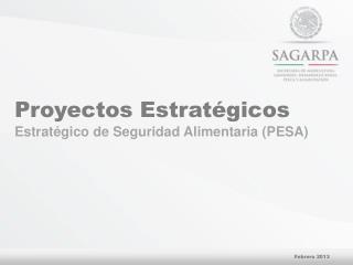 Proyectos Estratégicos Estratégico  de Seguridad Alimentaria (PESA)