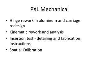 PXL Mechanical