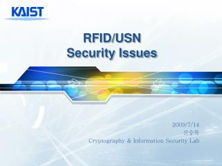 RFID/USN Security Issues