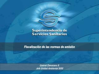 Gabriel Zamorano S.  Jefe Unidad Ambiental SISS