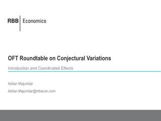 OFT Roundtable on Conjectural Variations