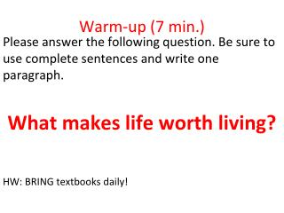Warm-up (7 min.)