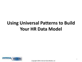 Using Universal Patterns to Build Your HR Data Model