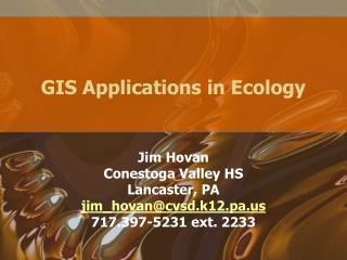 GIS Applications in Ecology