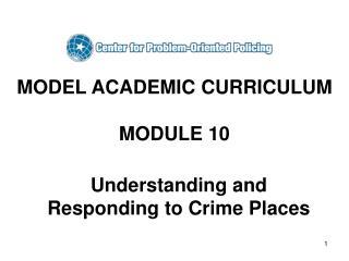 MODEL ACADEMIC CURRICULUM  MODULE 10