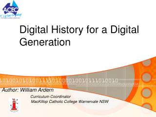 Digital History for a Digital Generation