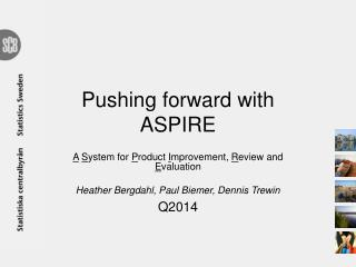 Pushing  forward  with  ASPIRE