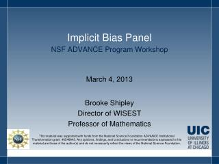 Implicit Bias Panel