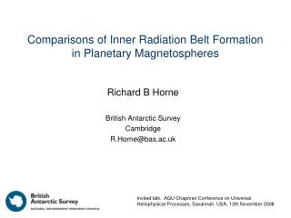 Comparisons of Inner Radiation Belt Formation in Planetary Magnetospheres