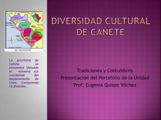 DIVERSIDAD CULTURAL DE CAÑETE