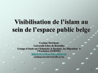 Visibilisation de l'islam au sein de l'espace public belge