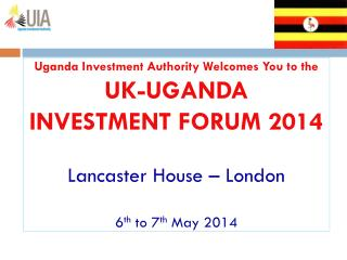 INVESTMENT CLIMATE  AND  OPPORTUNITIES  IN  UGANDA