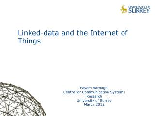 Linked-data and the Internet of Things