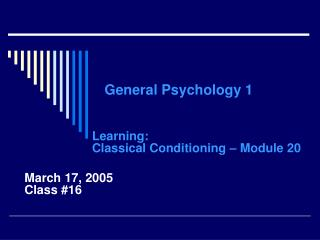 General Psychology 1